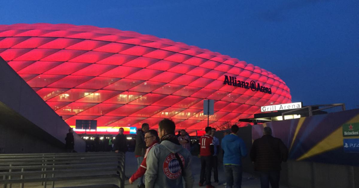 Betriebsausflug Bensing & Reith nach München, Allianz Arena.